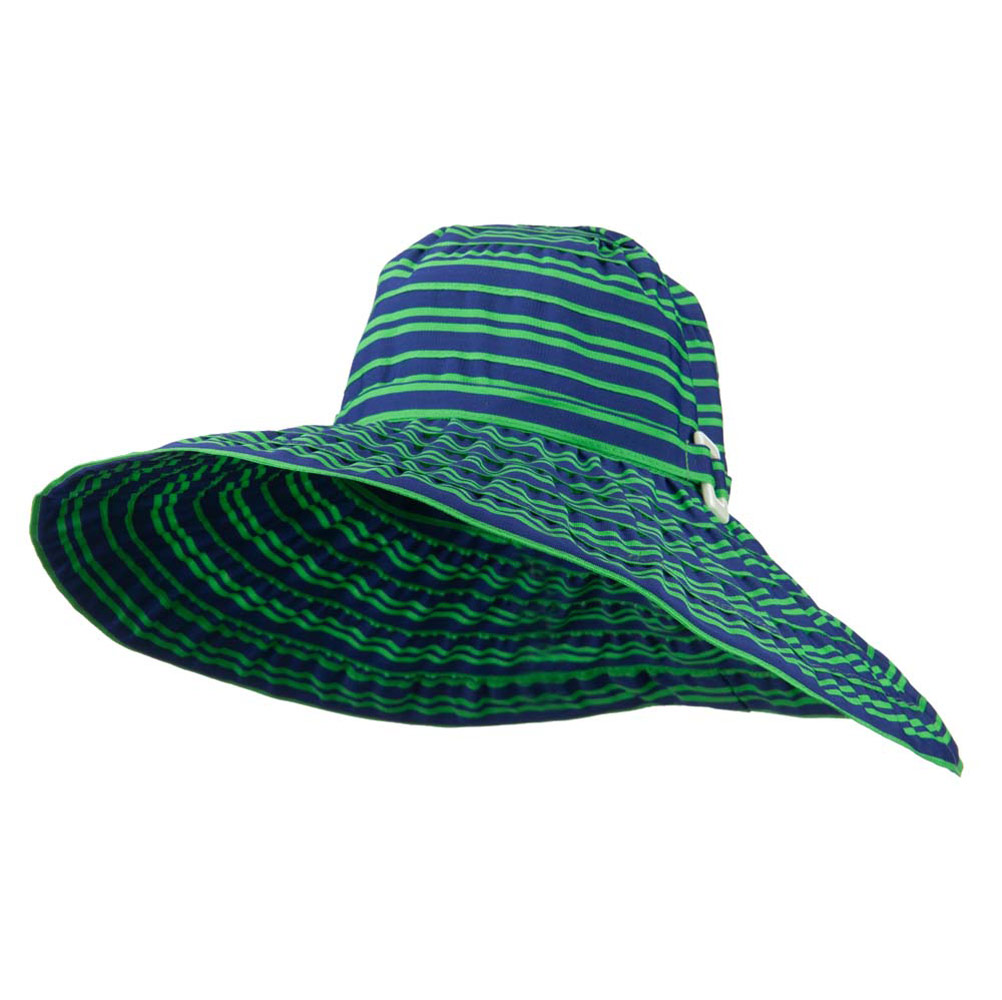 6 Inch Wide Square Buckle Brim Hat - Blue Green - Hats and Caps Online Shop - Hip Head Gear