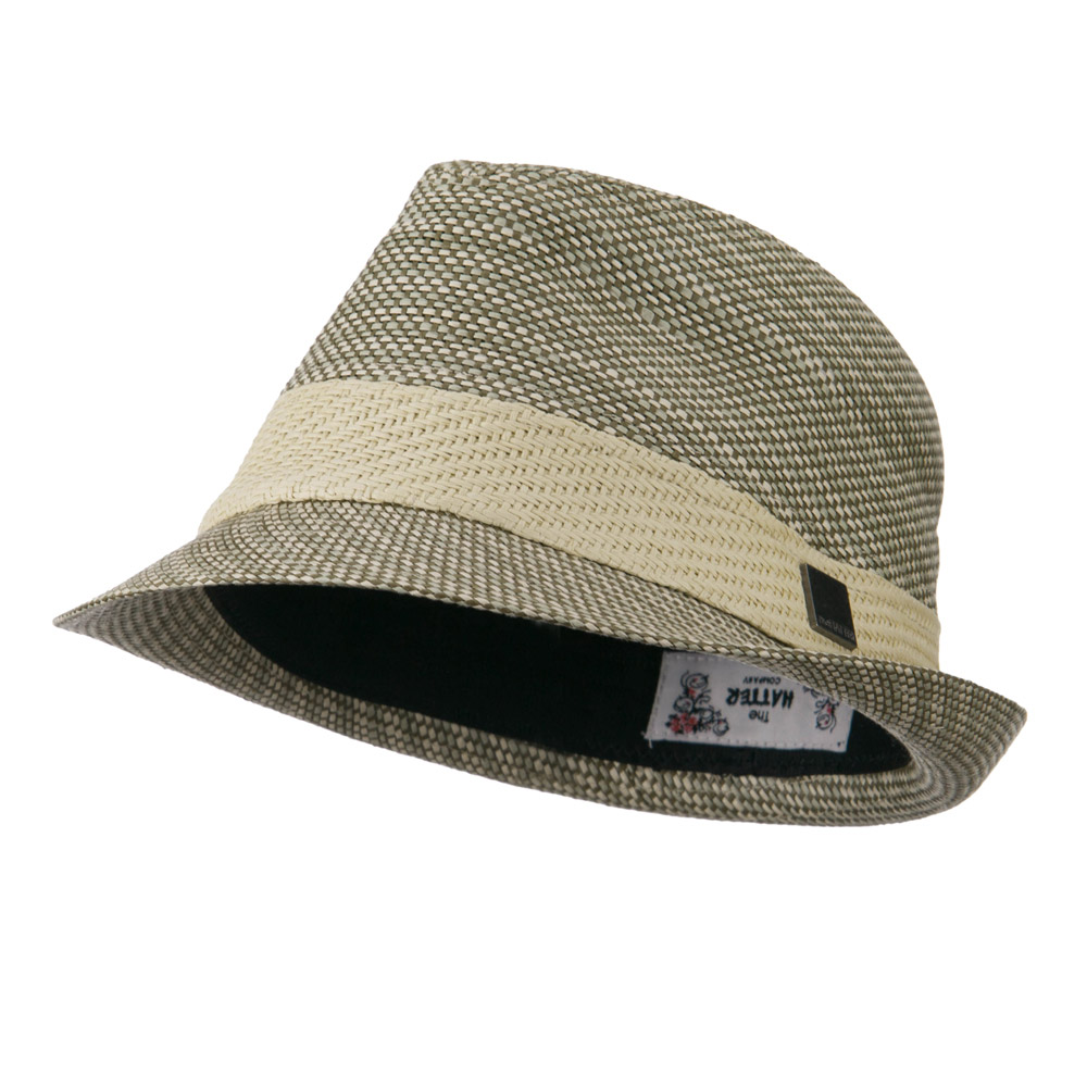 Straw Band Fedora Hat - Tan - Hats and Caps Online Shop - Hip Head Gear