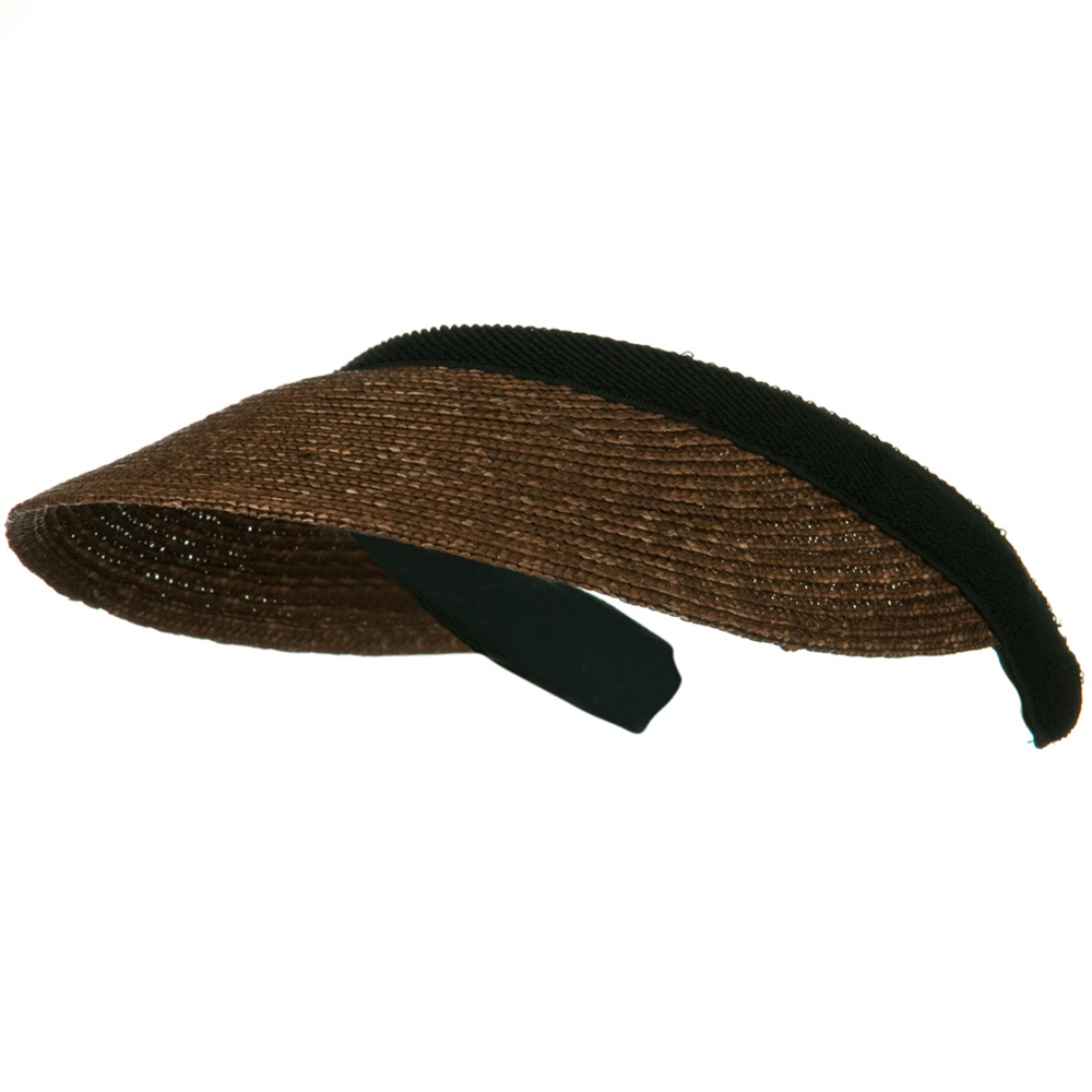 Sewn Braid Straw Clip On Visor - Brown - Hats and Caps Online Shop - Hip Head Gear