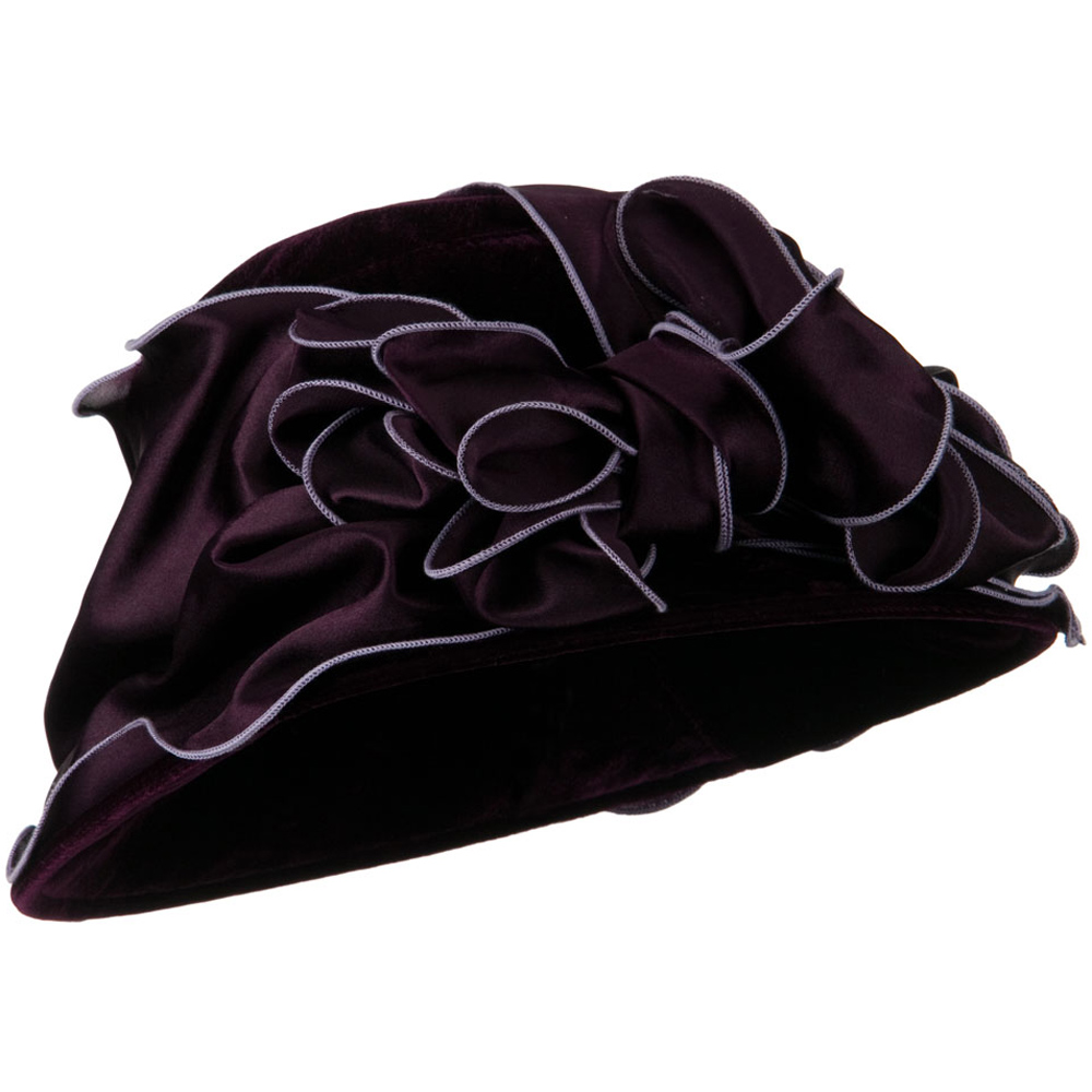 Satin Band Velvet Hat - Purple - Hats and Caps Online Shop - Hip Head Gear