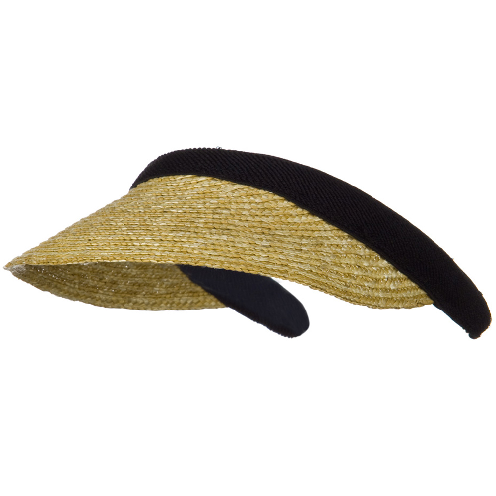 Sewn Braid Straw Clip On Visor - Natural - Hats and Caps Online Shop - Hip Head Gear