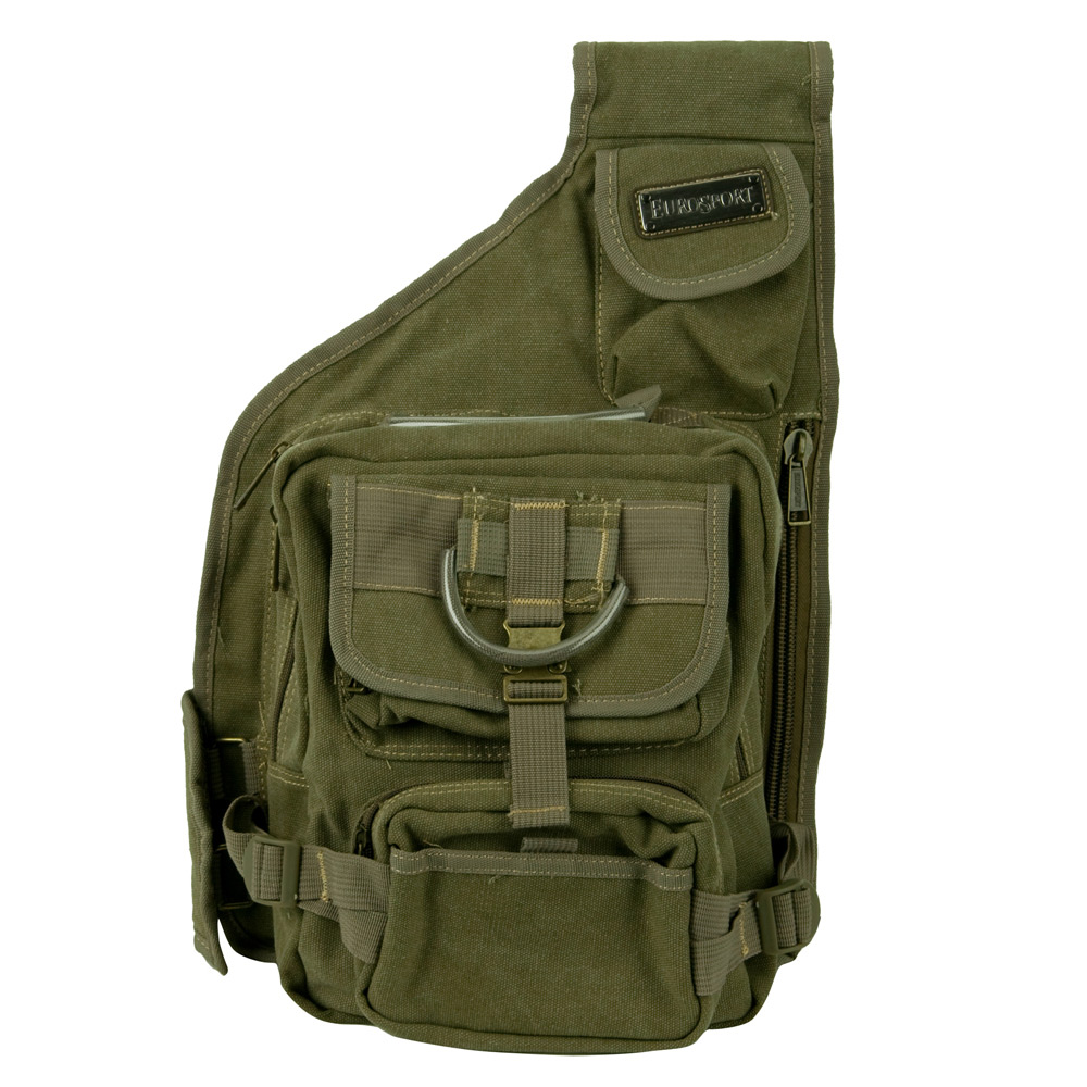 String Canvas Backpack - Khaki
