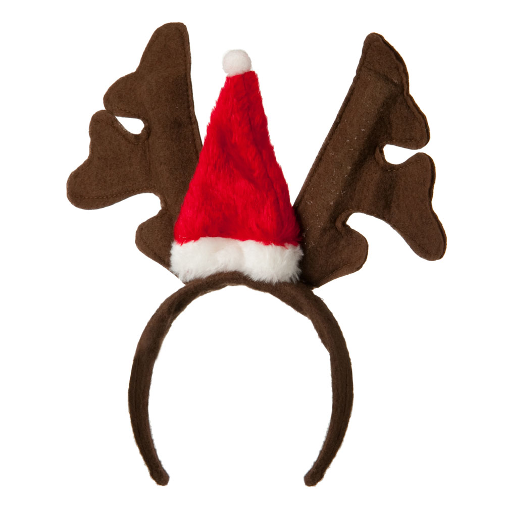 Santa Antlers Cap Headband - Brown Red - Hats and Caps Online Shop - Hip Head Gear