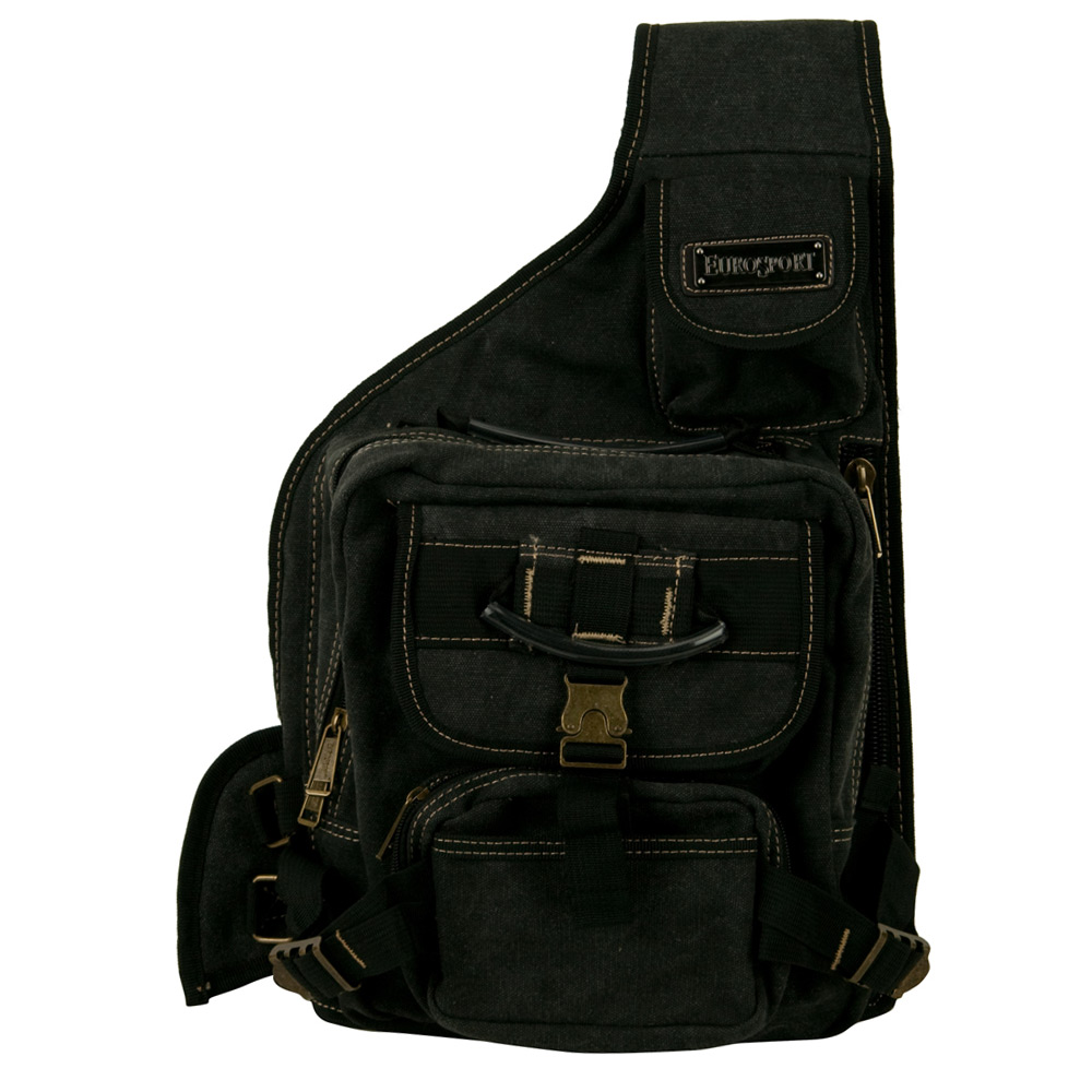 String Canvas Backpack - Black