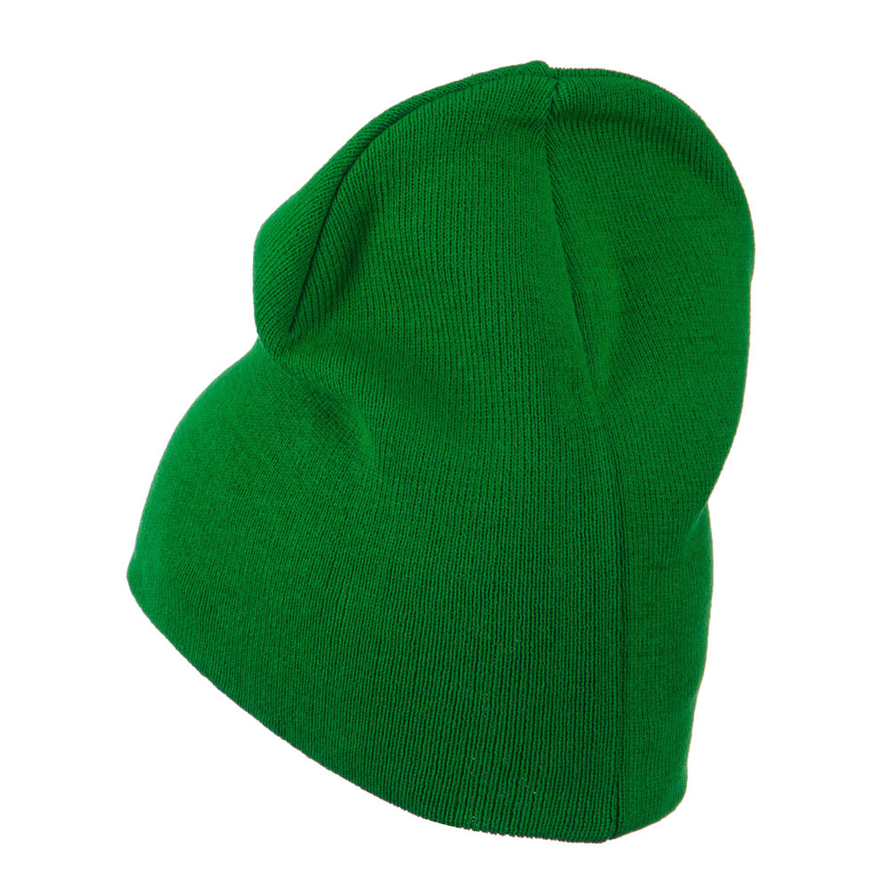Big Size Superior Cotton Short Knit Beanie-Kelly - Hats and Caps Online Shop - Hip Head Gear