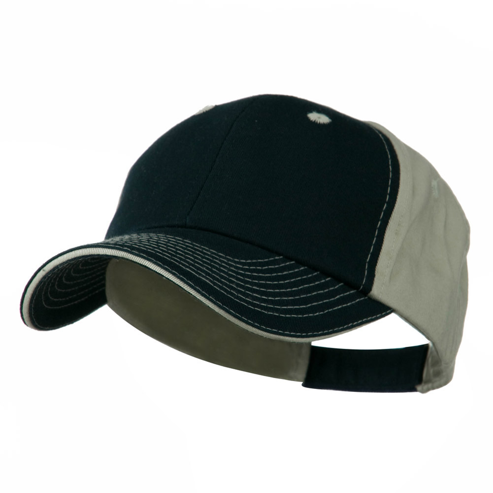 Contrast Sandwich Eyelets Cap - Navy Putty - Hats and Caps Online Shop - Hip Head Gear