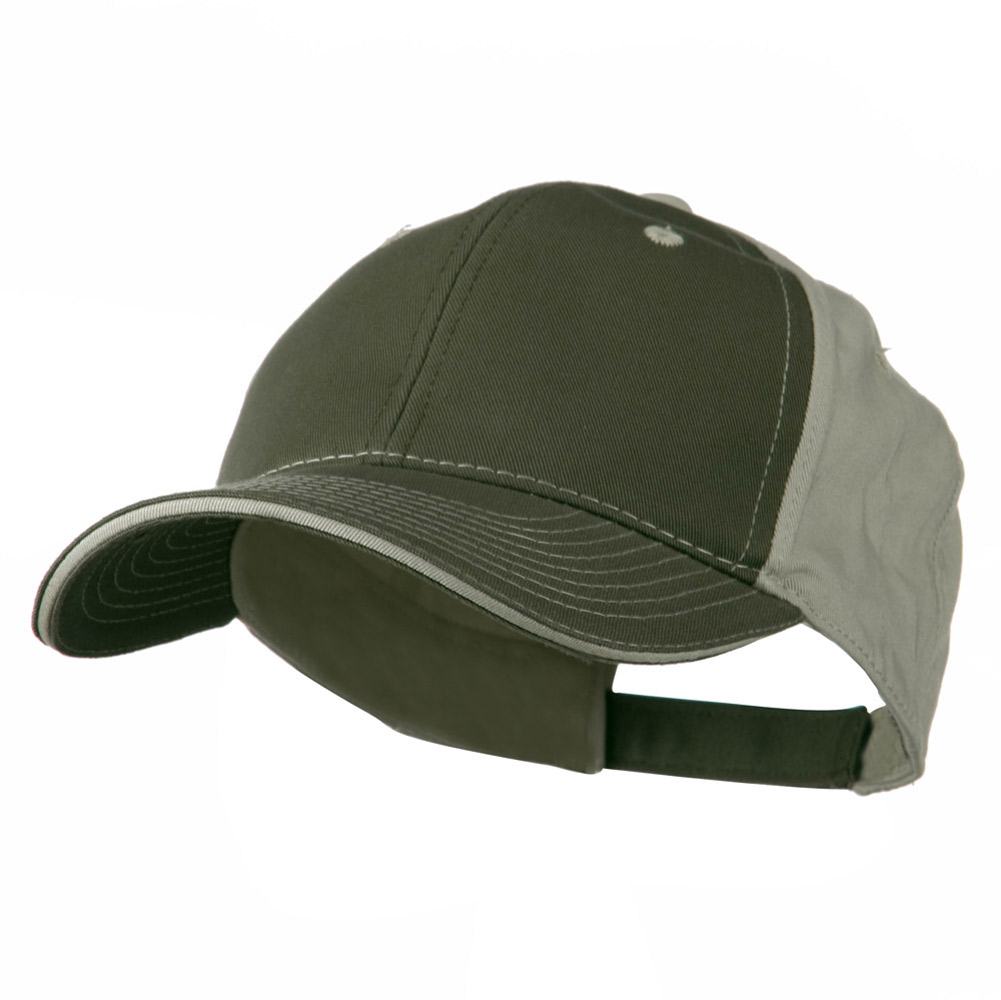 Contrast Sandwich Eyelets Cap - Olive Putty - Hats and Caps Online Shop - Hip Head Gear