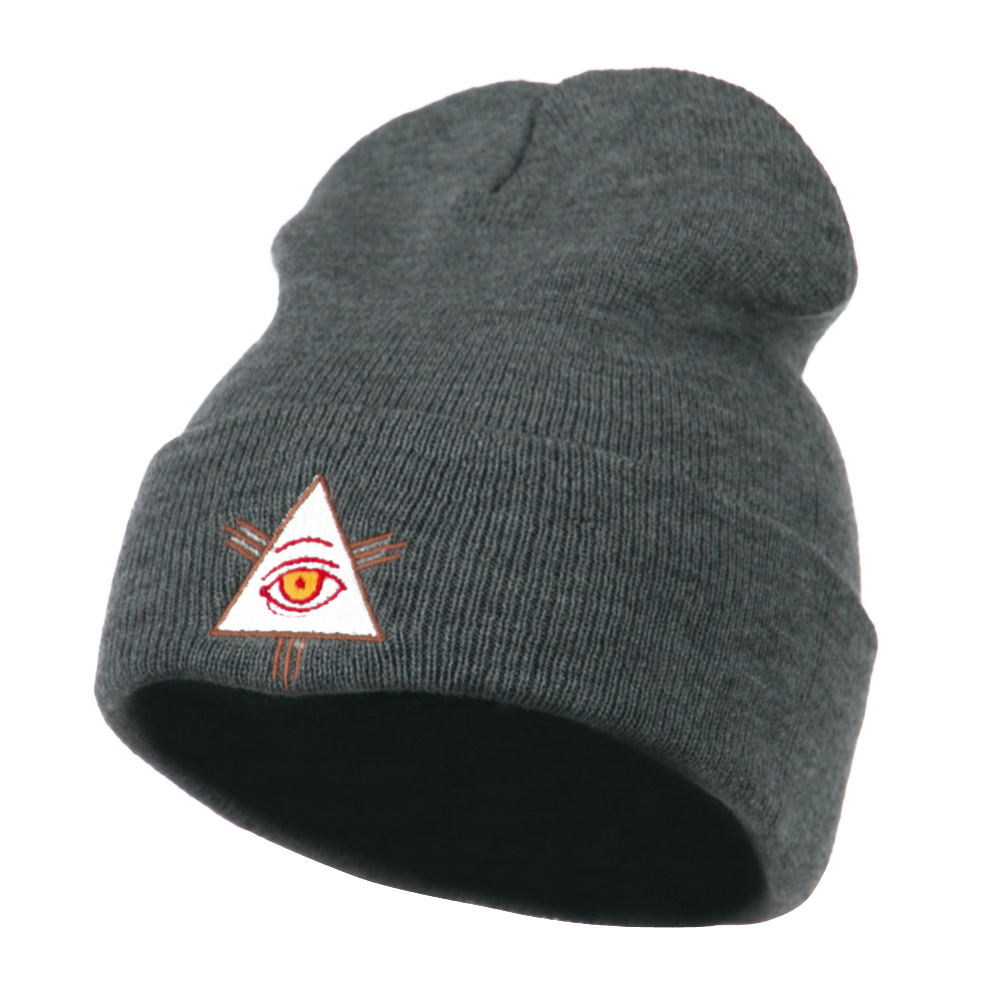 All Seeing Eye Embroidered Beanie - Grey - Hats and Caps Online Shop - Hip Head Gear
