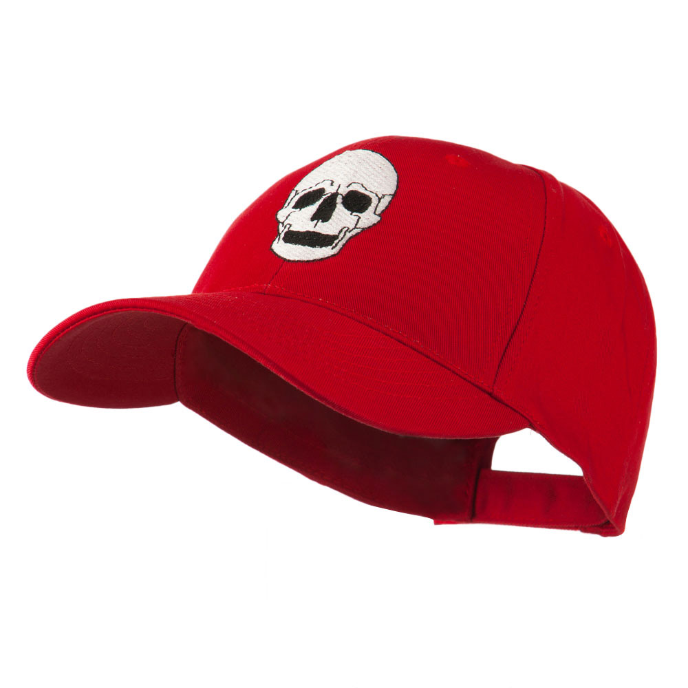 Halloween Skeleton Skull Embroidered Cap - Red - Hats and Caps Online Shop - Hip Head Gear