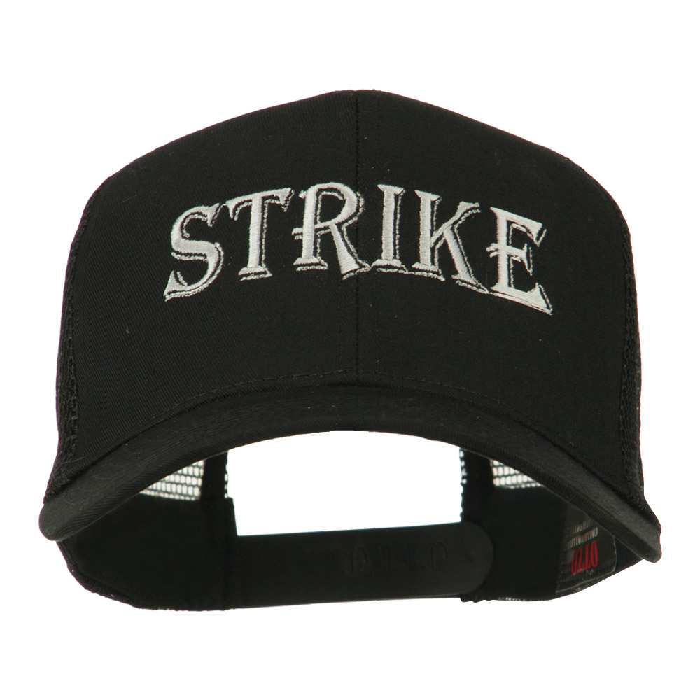 Strike Embroidered 6 Panel Mesh Cap - Black - Hats and Caps Online Shop - Hip Head Gear