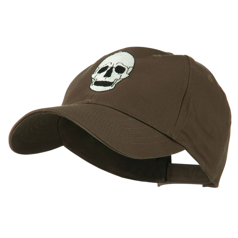 Halloween Skeleton Skull Embroidered Cap - Brown - Hats and Caps Online Shop - Hip Head Gear