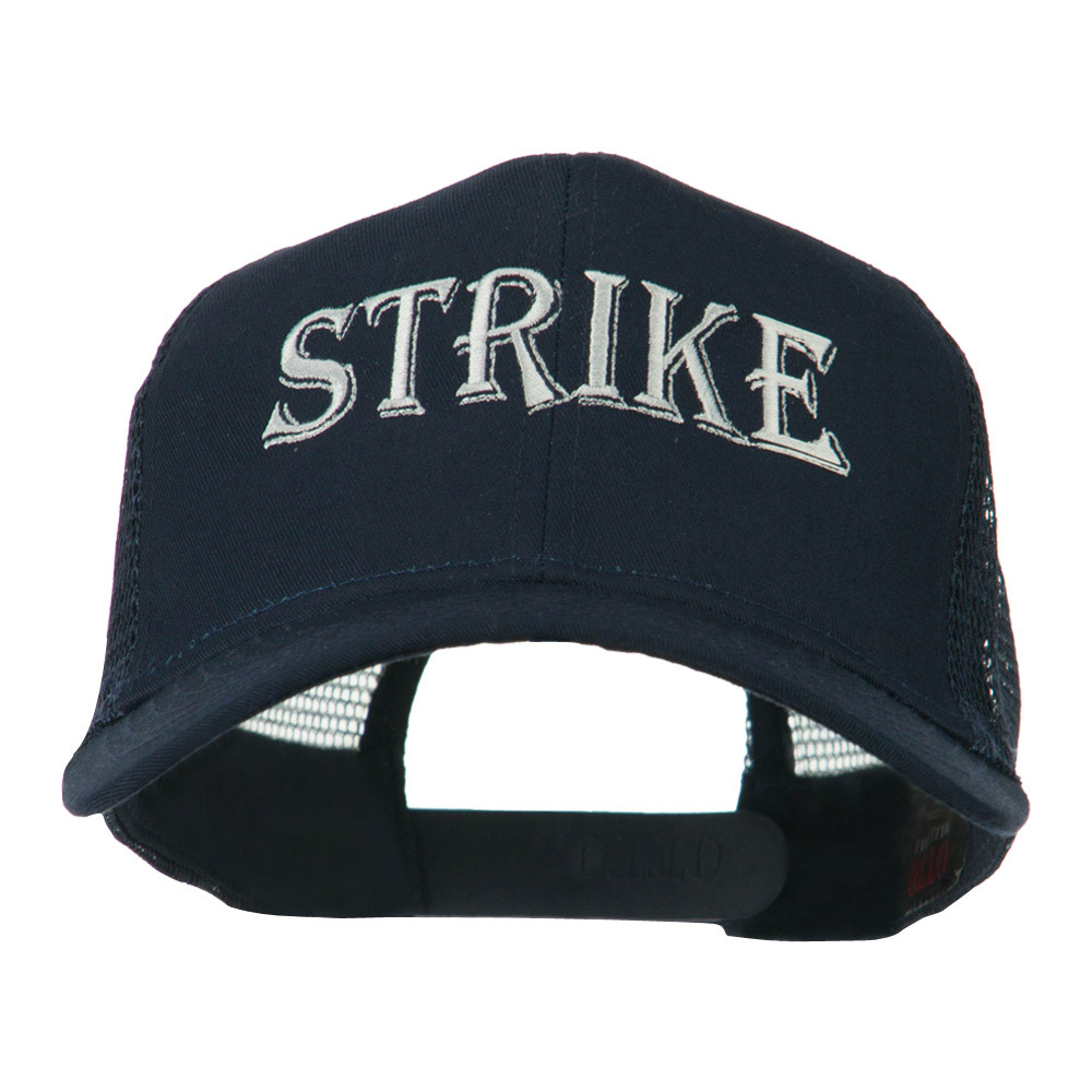Strike Embroidered 6 Panel Mesh Cap - Navy - Hats and Caps Online Shop - Hip Head Gear