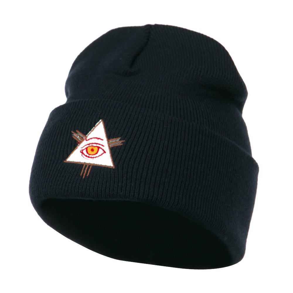 All Seeing Eye Embroidered Beanie - Navy - Hats and Caps Online Shop - Hip Head Gear