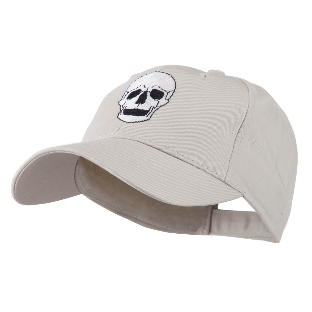 Halloween Skeleton Skull Embroidered Cap - Stone - Hats and Caps Online Shop - Hip Head Gear