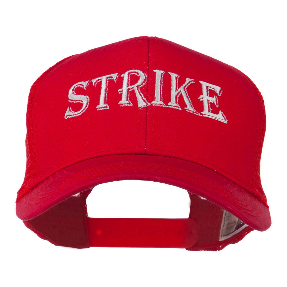 Strike Embroidered 6 Panel Mesh Cap - Red - Hats and Caps Online Shop - Hip Head Gear