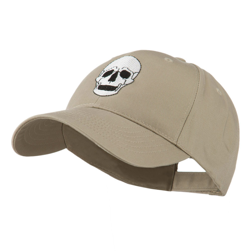Halloween Skeleton Skull Embroidered Cap - Khaki - Hats and Caps Online Shop - Hip Head Gear