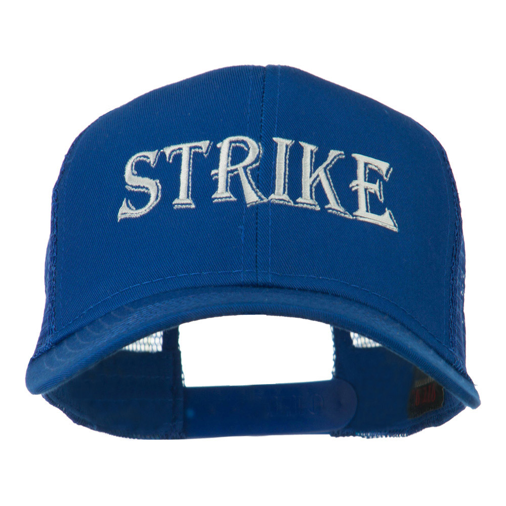 Strike Embroidered 6 Panel Mesh Cap - Royal - Hats and Caps Online Shop - Hip Head Gear