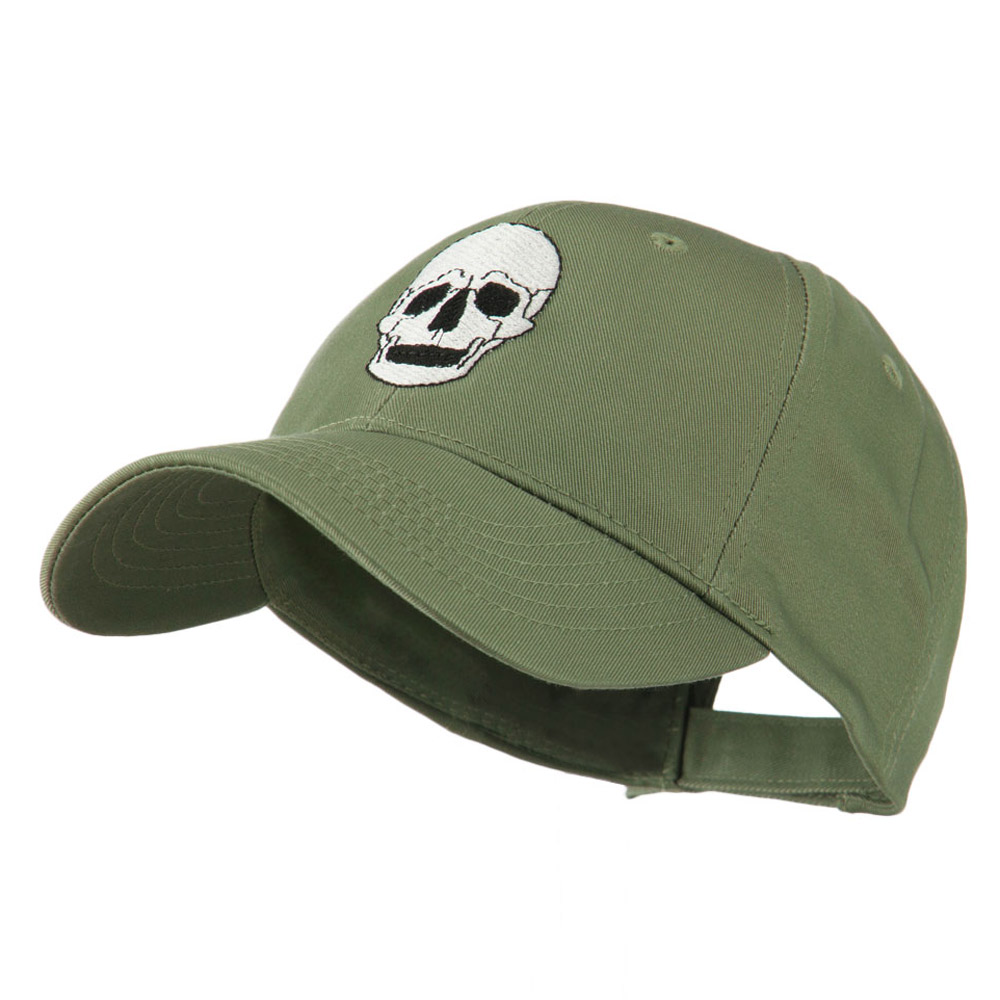 Halloween Skeleton Skull Embroidered Cap - Olive - Hats and Caps Online Shop - Hip Head Gear