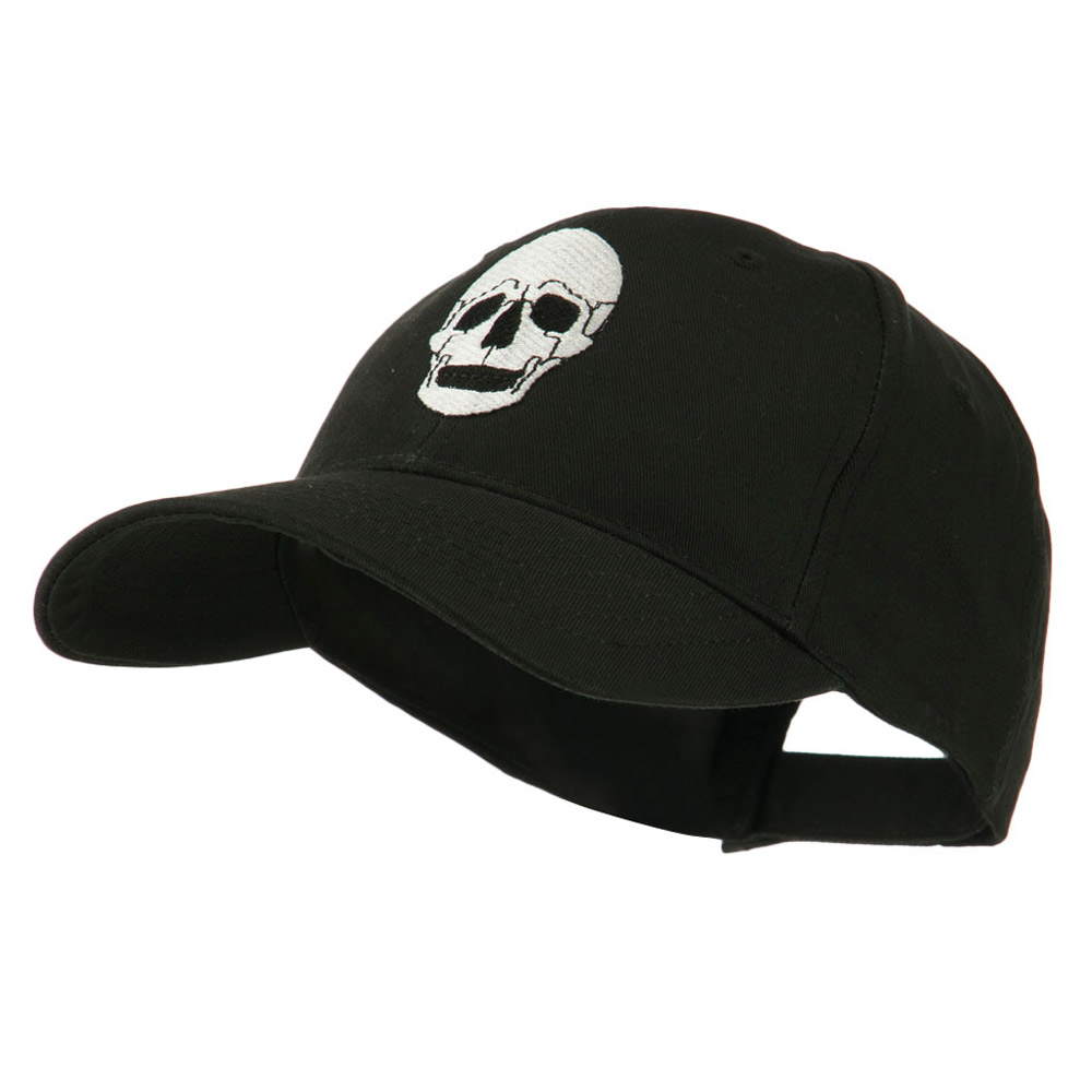 Halloween Skeleton Skull Embroidered Cap - Black - Hats and Caps Online Shop - Hip Head Gear