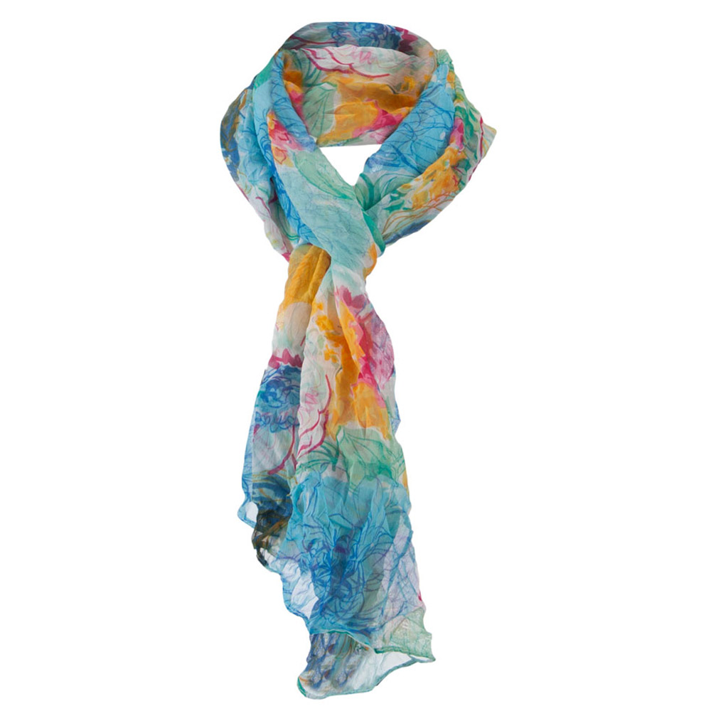 Jeanne Simmons Women's Soft Floral Scarf - Blue W31S33C at Sears.com