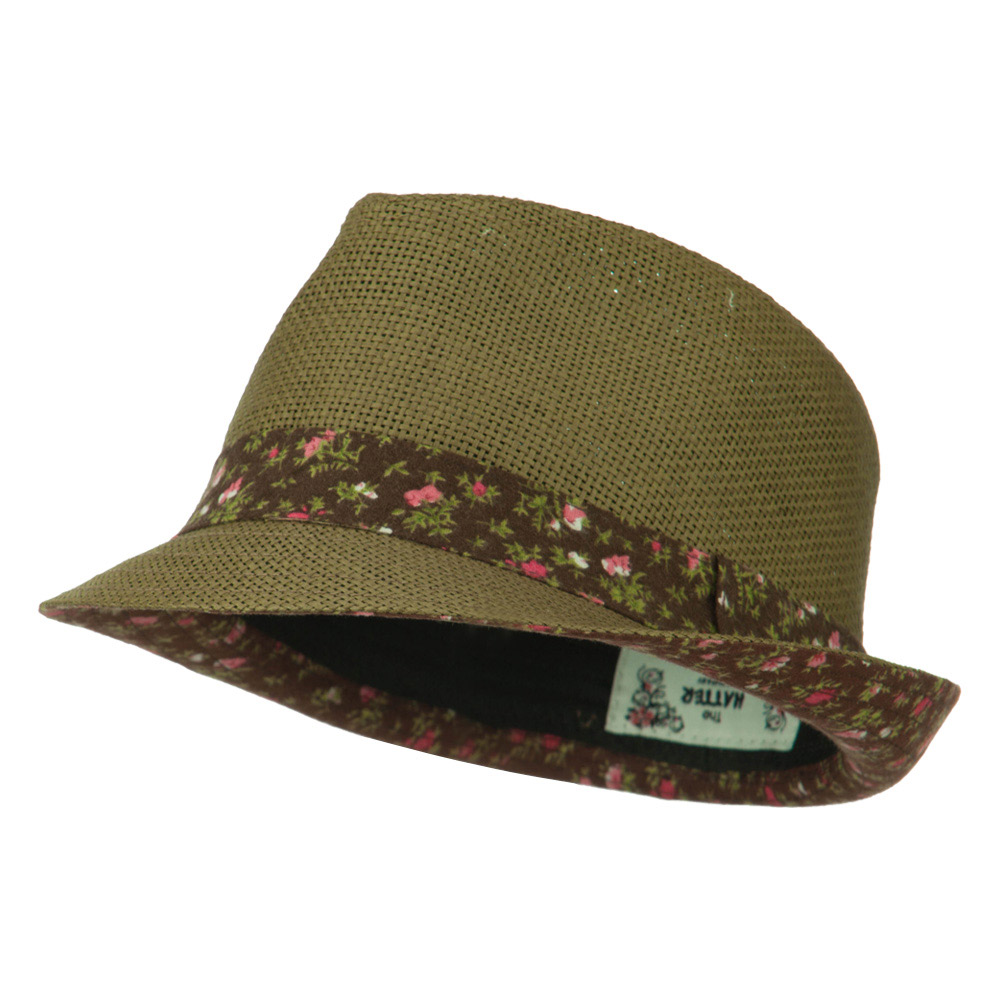 Woman's Solid Fedora Hat with Feather and Bow  - Brown - Hats and Caps Online Shop - Hip Head Gear