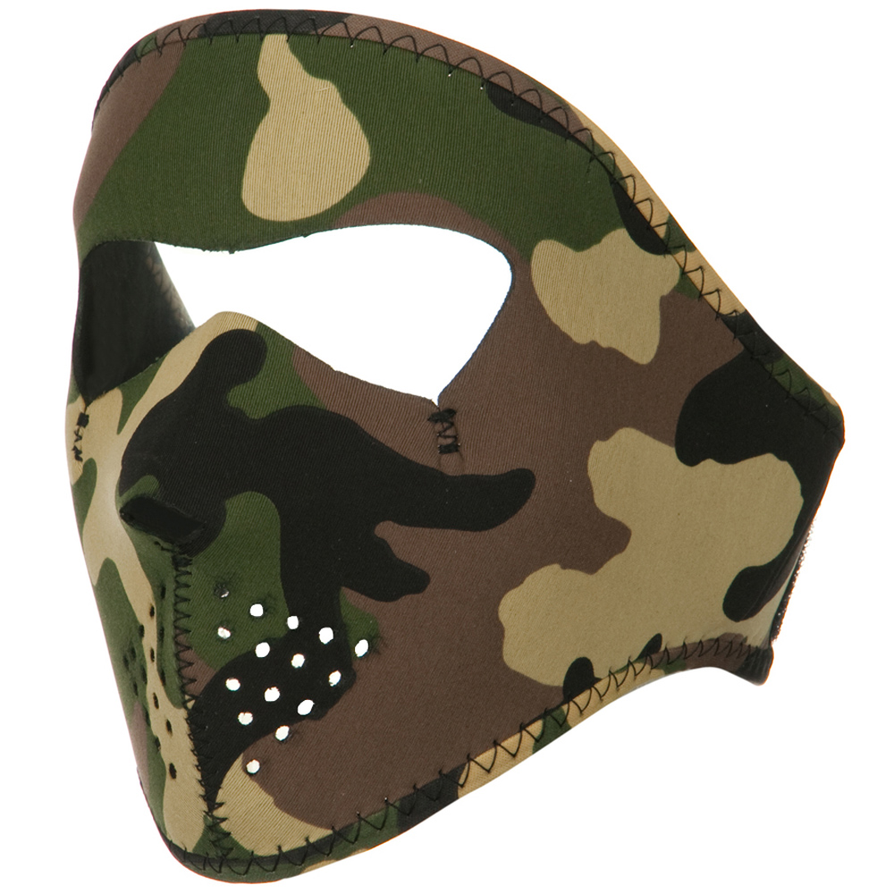 Smaller Face Full Mask - Woodland - Hats and Caps Online Shop - Hip Head Gear