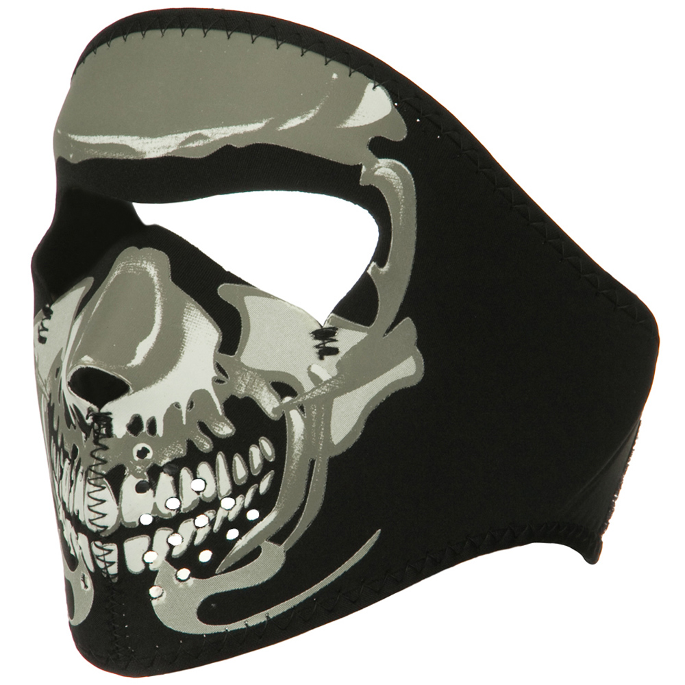 Smaller Face Full Mask - Glow Chrome Skull - Hats and Caps Online Shop - Hip Head Gear