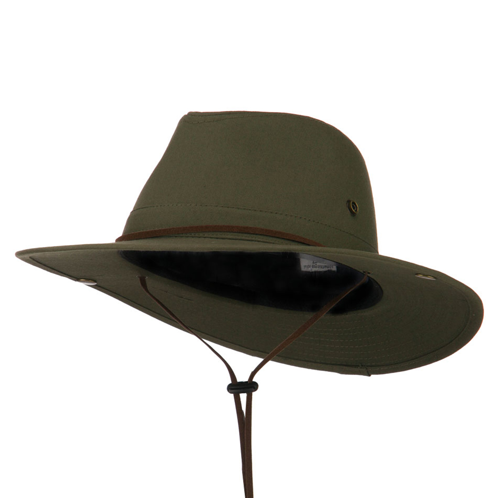 Safari Folded Brim Safari Hat - Olive - Hats and Caps Online Shop - Hip Head Gear