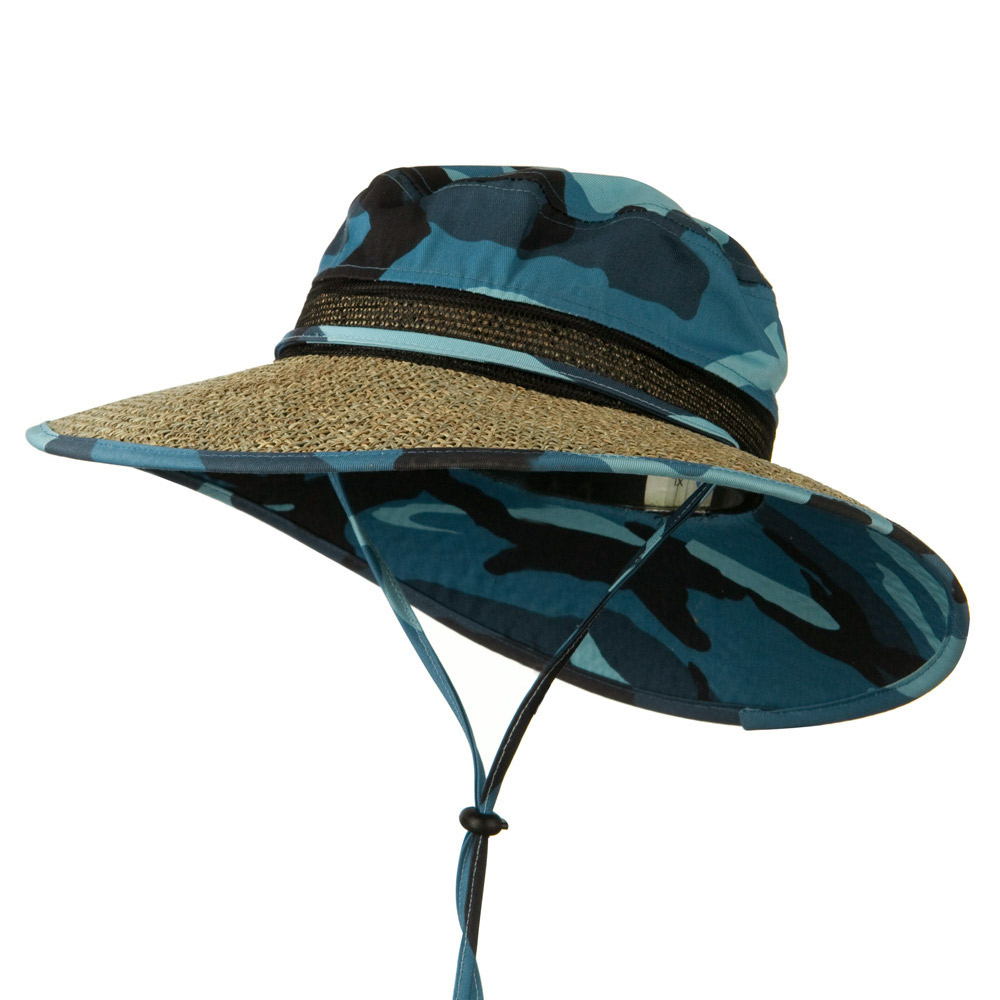 Seagrass Wide Brim Fabric Hat - Skycamo - Hats and Caps Online Shop - Hip Head Gear
