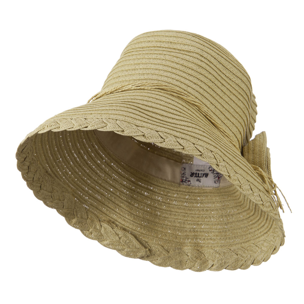 Flower Accent Straw Bucket Hat - Natural - Hats and Caps Online Shop - Hip Head Gear