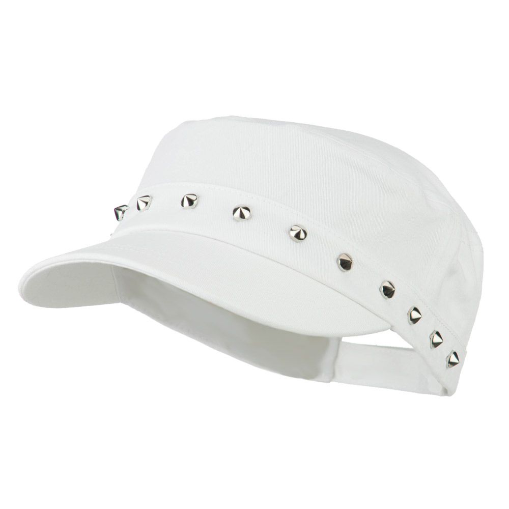 Spike Jeep Style Adjustable Cap - White - Hats and Caps Online Shop - Hip Head Gear