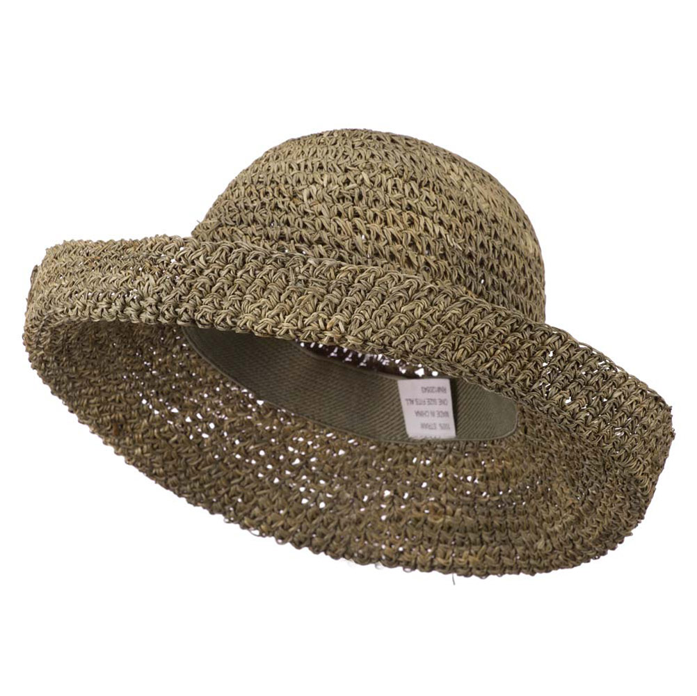 Seagrass Kettle Brim Self Tie Ribbon Hat - Seagrass - Hats and Caps Online Shop - Hip Head Gear