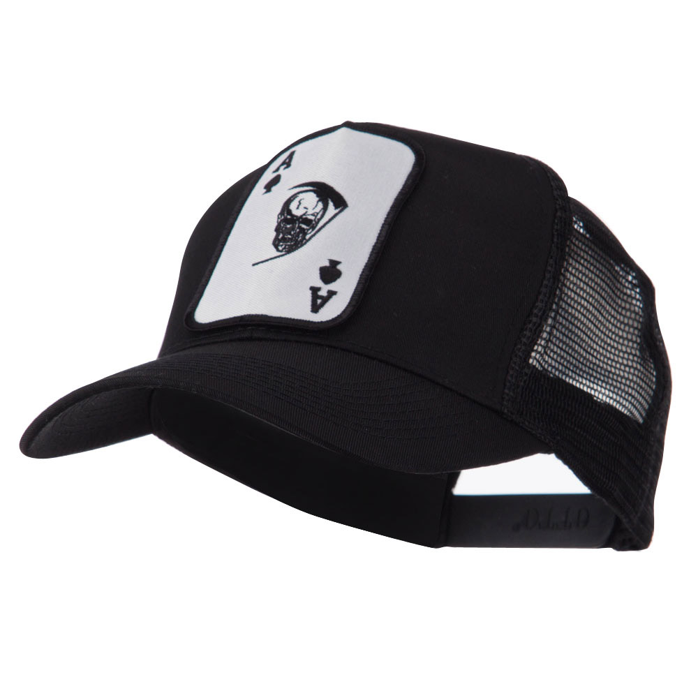 Skull and Choppers Embroidered Military Patched Mesh Cap - Death Ace - Hats and Caps Online Shop - Hip Head Gear