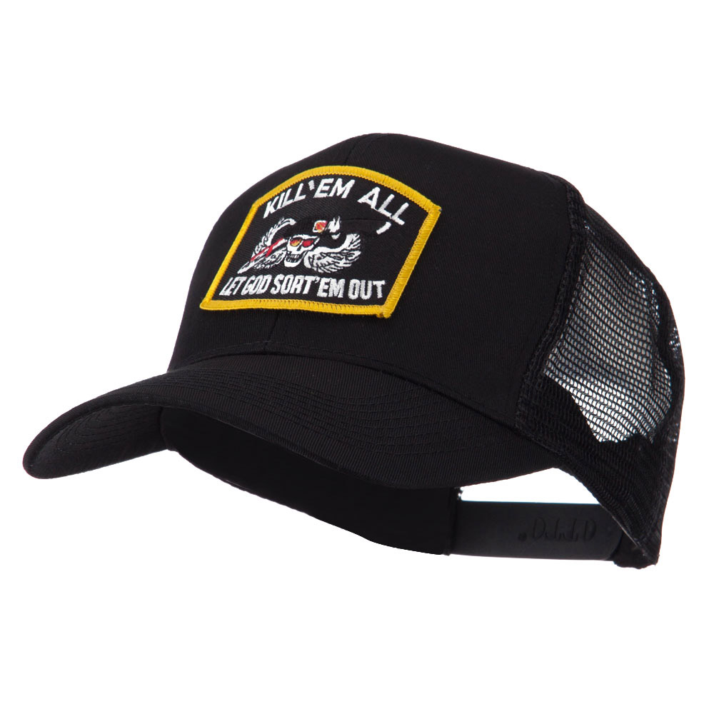 Skull and Choppers Embroidered Military Patched Mesh Cap - Kill - Hats and Caps Online Shop - Hip Head Gear