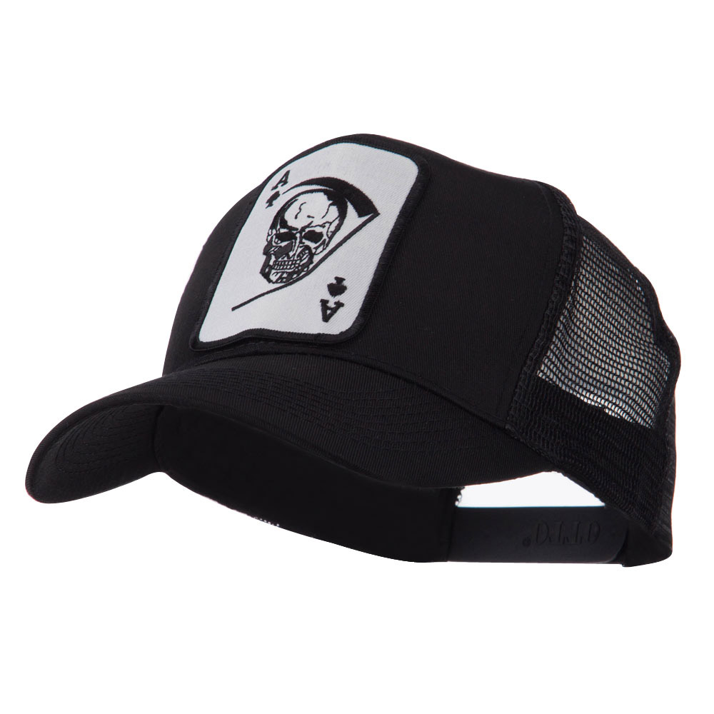 Skull and Choppers Embroidered Military Patched Mesh Cap - Large Skull - Hats and Caps Online Shop - Hip Head Gear