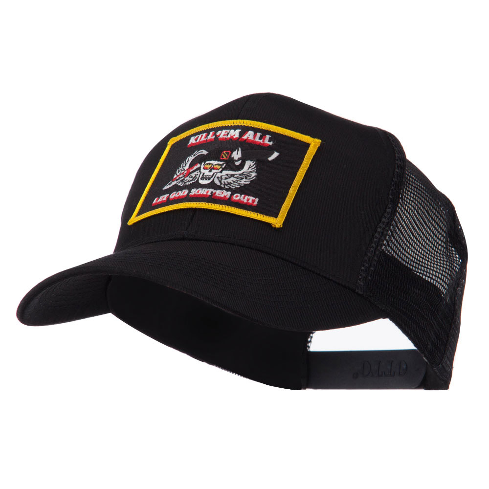 Skull and Choppers Embroidered Military Patched Mesh Cap - Kill 2 - Hats and Caps Online Shop - Hip Head Gear