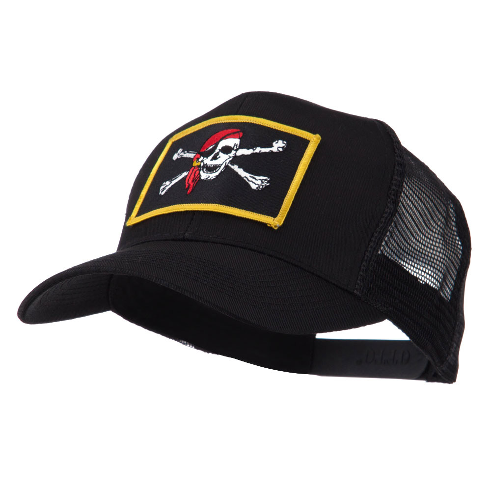 Skull and Choppers Embroidered Military Patched Mesh Cap - Red Scarf - Hats and Caps Online Shop - Hip Head Gear
