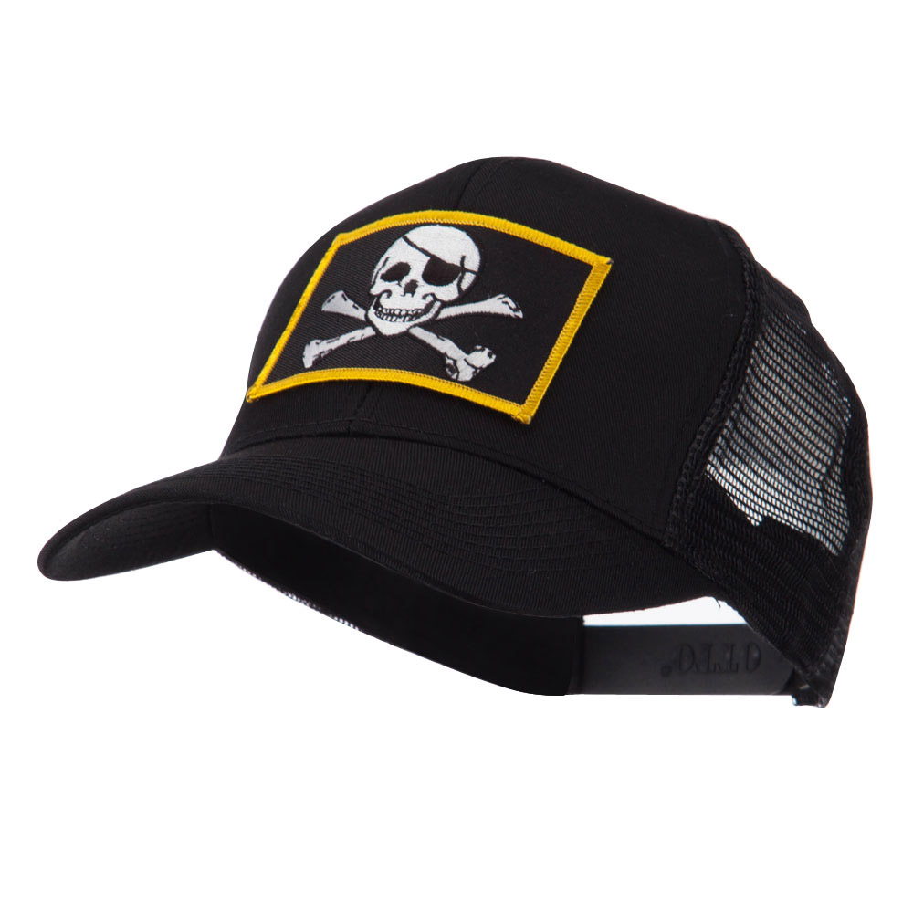 Skull and Choppers Embroidered Military Patched Mesh Cap - Jolly Roger - Hats and Caps Online Shop - Hip Head Gear