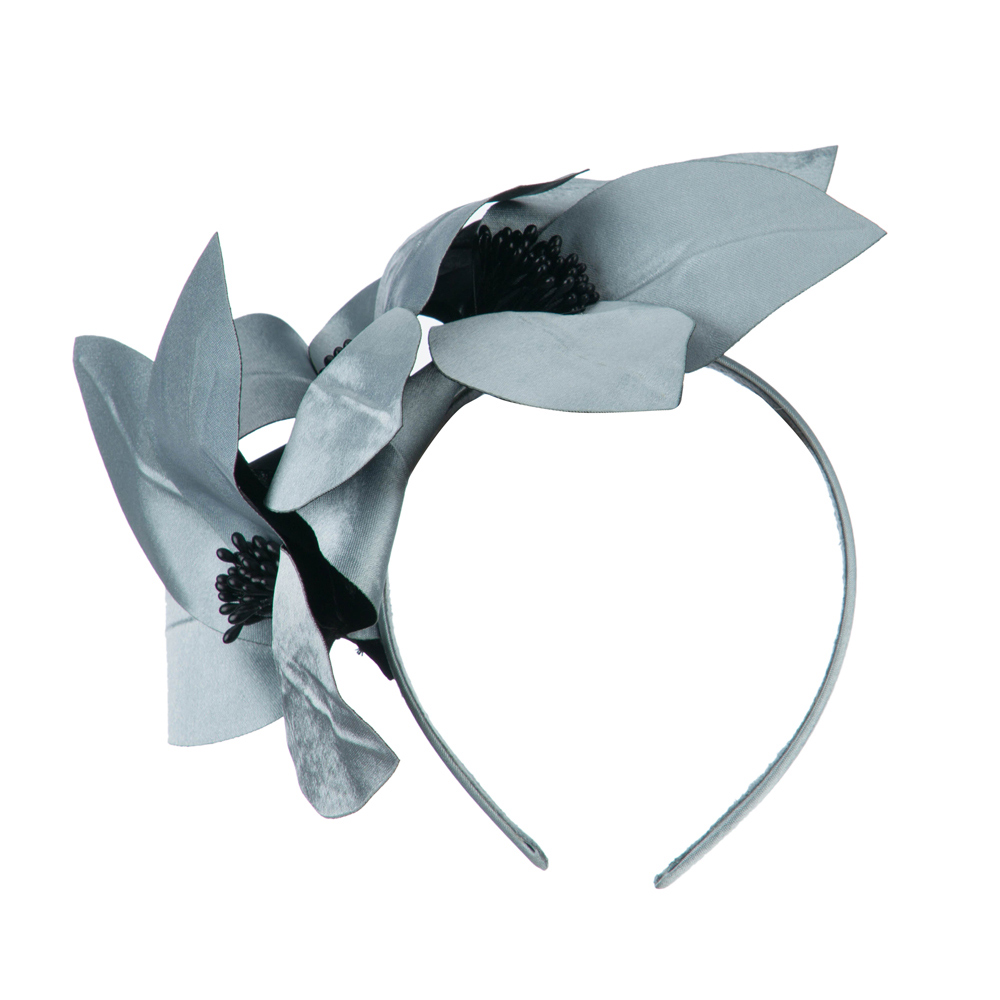Women's Satin Leaf Head Clip - Silver - Hats and Caps Online Shop - Hip Head Gear