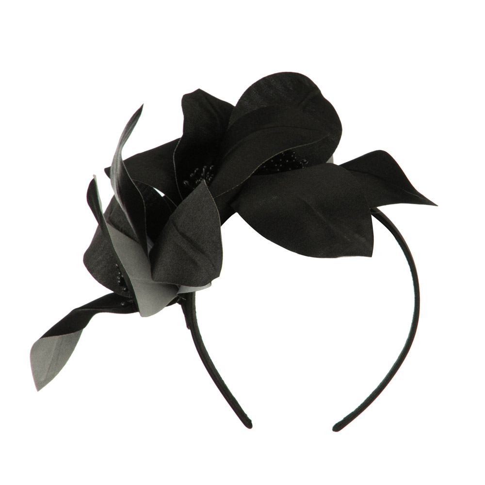 Women's Satin Leaf Head Clip - Black - Hats and Caps Online Shop - Hip Head Gear