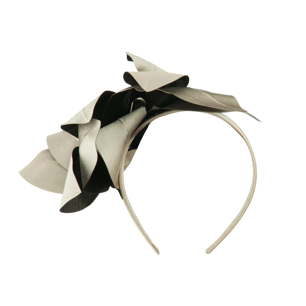 Women's Satin Leaf Head Clip - Champagne - Hats and Caps Online Shop - Hip Head Gear