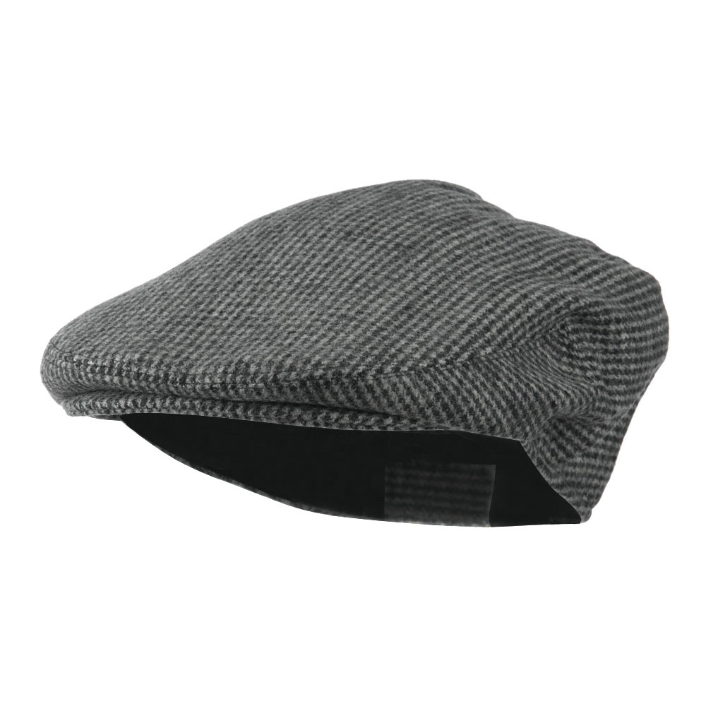 Men's Snap Front Wool Blend Ivy Cap - Black - Hats and Caps Online Shop - Hip Head Gear