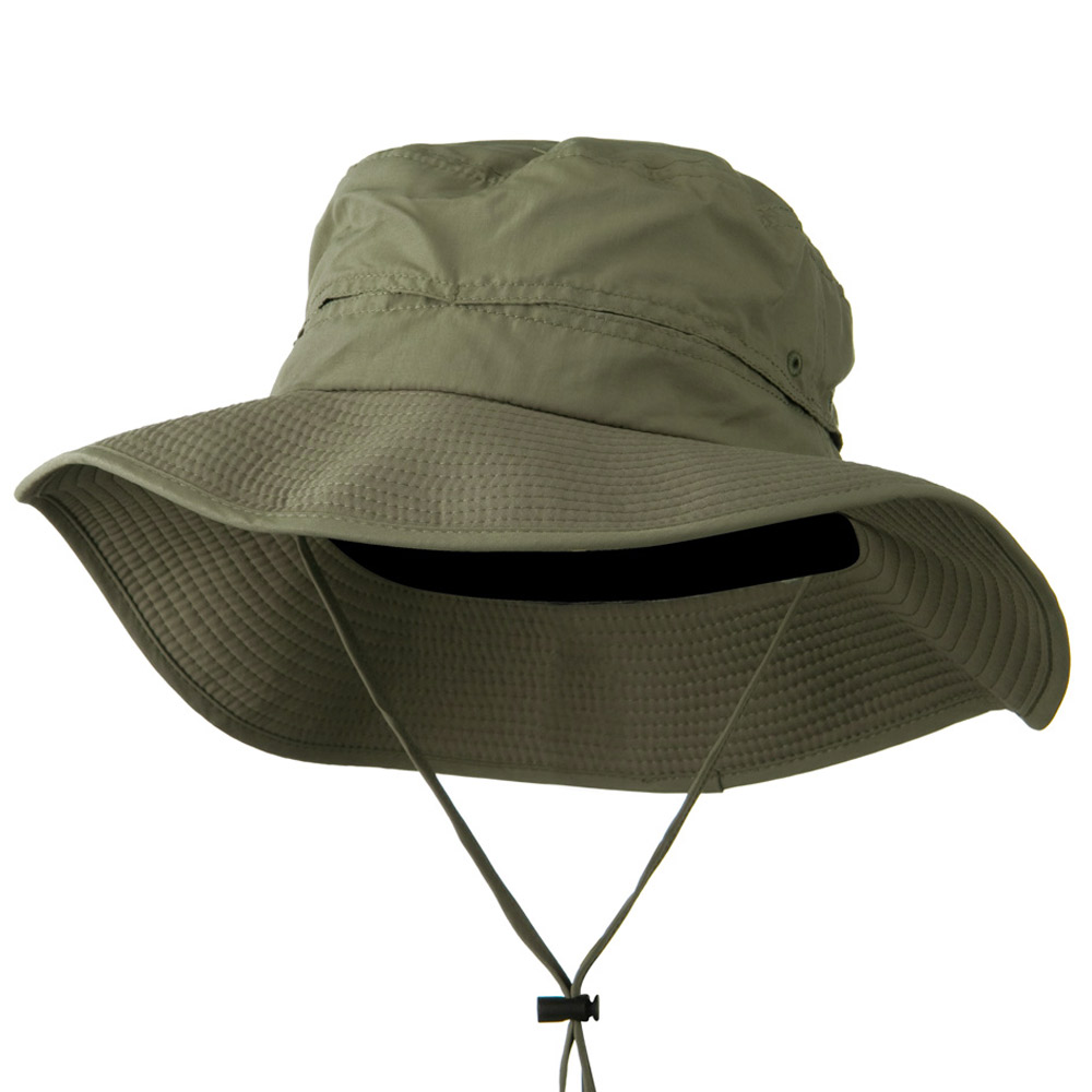 Big Size Inner Side Mesh Talson UV Bucket Hat - Olive - Hats and Caps Online Shop - Hip Head Gear