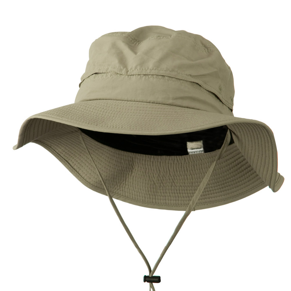 Big Size Inner Side Mesh Talson UV Bucket Hat - Khaki - Hats and Caps Online Shop - Hip Head Gear