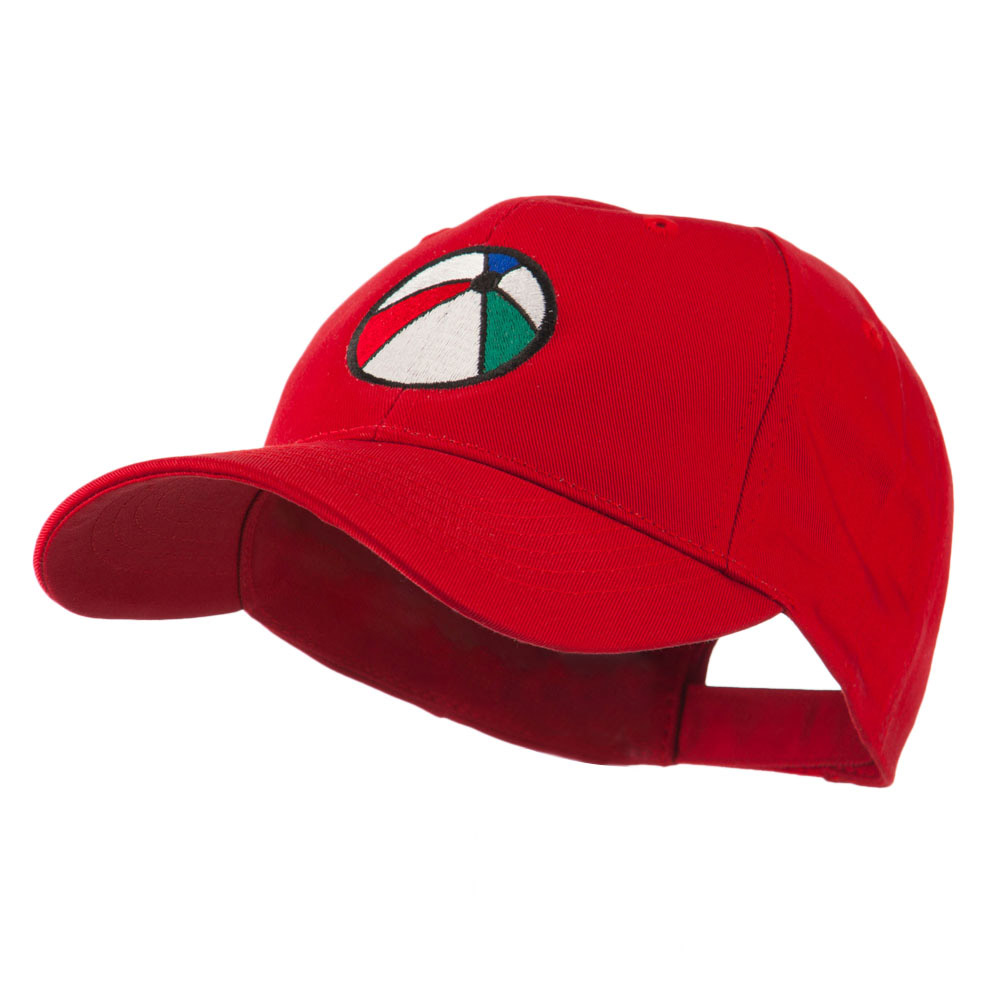 Summertime Beach Ball Embroidered Cap - Red - Hats and Caps Online Shop - Hip Head Gear
