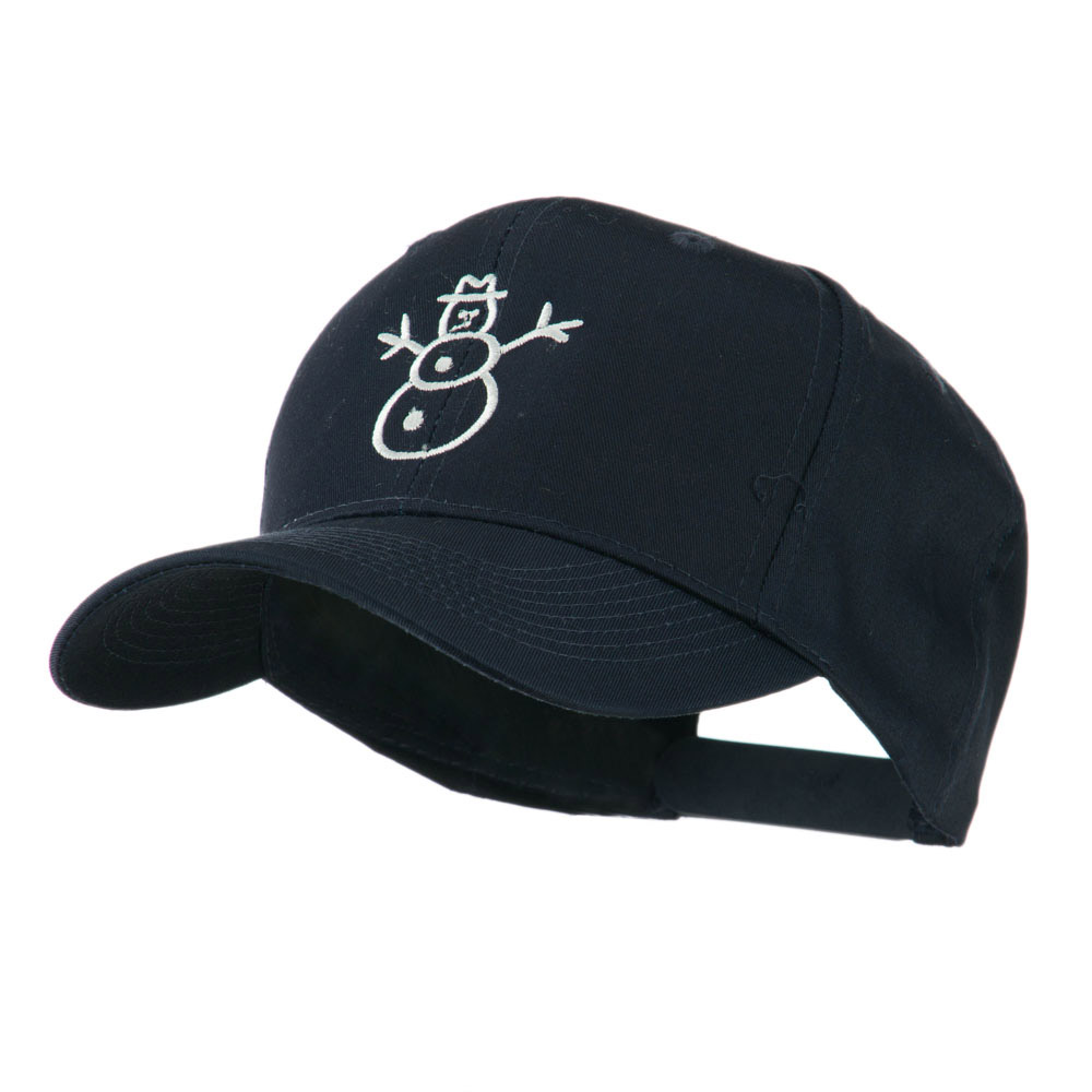 Christmas Snowman Outline Embroidered Cap - Navy - Hats and Caps Online Shop - Hip Head Gear