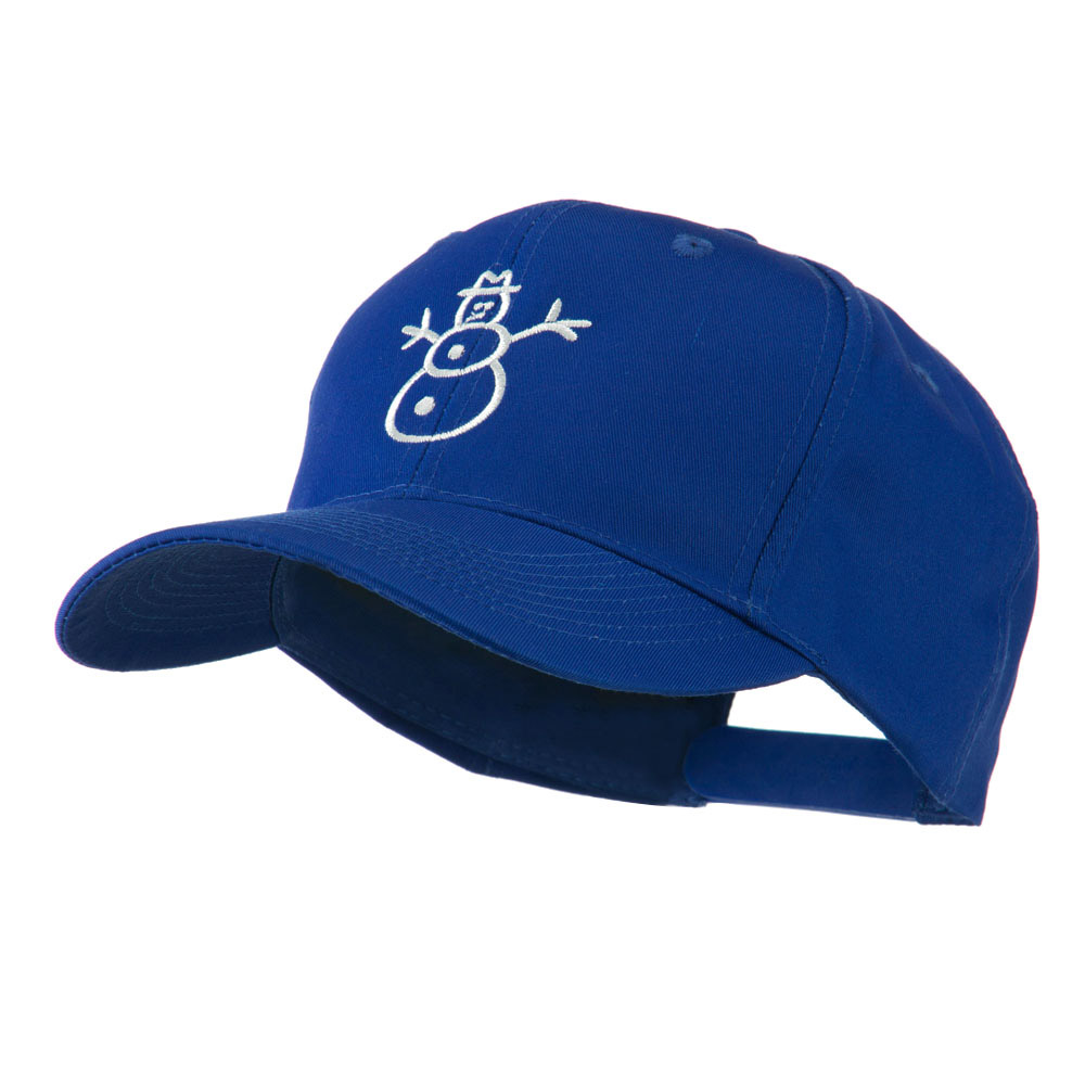 Christmas Snowman Outline Embroidered Cap - Royal - Hats and Caps Online Shop - Hip Head Gear