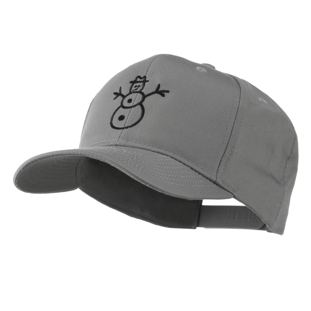 Christmas Snowman Outline Embroidered Cap - Grey - Hats and Caps Online Shop - Hip Head Gear