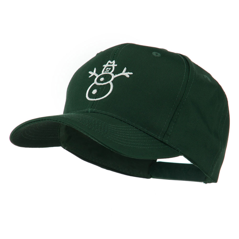 Christmas Snowman Outline Embroidered Cap - Green - Hats and Caps Online Shop - Hip Head Gear