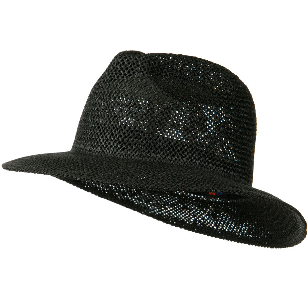 Safari Straw Hat with Pinched Top - Black - Hats and Caps Online Shop - Hip Head Gear